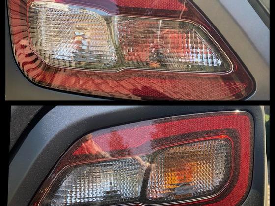 Blinkerlampen gegen Silber beschichtete ausgetauscht (Rückleuchte)