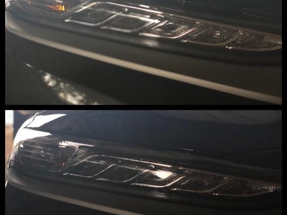 Blinkerlampen gegen Silber beschichtete ausgetauscht (Fronttaglicht)
